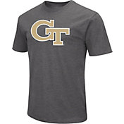 Colosseum Men's Georgia Tech Yellow Jackets Grey Dual Blend T-Shirt