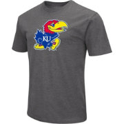 Colosseum Men's Kansas Jayhawks Grey Dual Blend T-Shirt