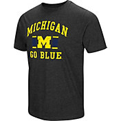 Colosseum Men's Michigan Wolverines Grey Tri-Blend T-Shirt