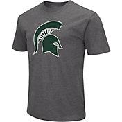 Colosseum Men's Michigan State Spartans Grey Dual Blend T-Shirt