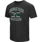 Colosseum Men's Michigan State Spartans Grey Tri-Blend T-Shirt