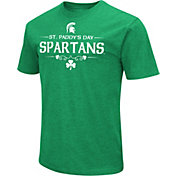 Colosseum Men's Michigan State Spartans Kelly Green St. Patrick's Day Dual Blend T-Shirt