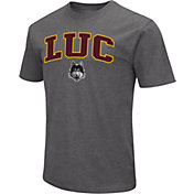 Colosseum Men's Loyola Chicago Ramblers Grey Dual Blend T-Shirt