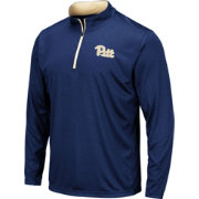 Colosseum Men's Pitt Panthers Blue Embossed Quarter-Zip Performance Shirt
