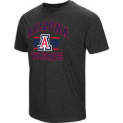 Colosseum Men's Arizona Wildcats Grey Tri-Blend T-Shirt