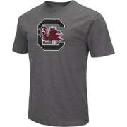 Colosseum Men's South Carolina Gamecocks Grey Dual Blend T-Shirt