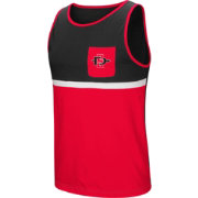 Colosseum Men's San Diego State Aztecs Scarlet/Black Lollygaggers Tank Top