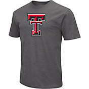 Colosseum Men's Texas Tech Red Raiders Grey Dual Blend T-Shirt