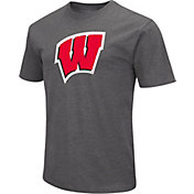 Colosseum Men's Wisconsin Badgers Grey Dual Blend T-Shirt