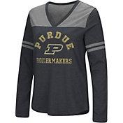 Colosseum Women's Purdue Boilermakers Dual Blend V-Neck Black T-Shirt