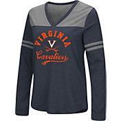 Colosseum Women's Virginia Cavaliers Blue Dual Blend V-Neck T-Shirt