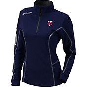 Columbia Women's Cleveland Indians Shotgun Quarter-Zip Performance Pullover