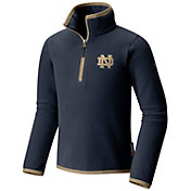 Columbia Youth Notre Dame Fight Irish Navy Ridge Quarter-Zip Pullover Fleece