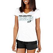 Concepts Sport Women's Philadelphia Eagles Block Out White T-Shirt