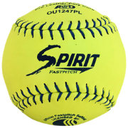 A.D. Starr 12'' USSSA Spirit Optic Leather Softballs – 12 Pack