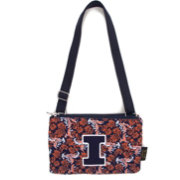 Eagles Wings Illinois Fighting Illini Quilted Cotton Cross Body Purse