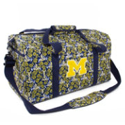 Eagles Wings Michigan Wolverines Quilted Cotton Large Duffle Bag