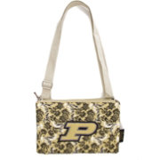 Eagles Wings Purdue Boilermakers Quilted Cotton Cross Body Purse