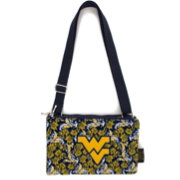 Eagles Wings West Virginia Mountaineers Quilted Cotton Cross Body Purse