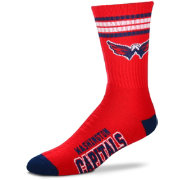 For Bare Feet Washington Capitals 4-Stripe Deuce Crew Socks