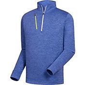 FootJoy Men's Heather Pinstripe ½ Zip Golf Pullover