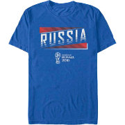Fifth Sun Men's 2018 FIFA World Cup Russia Slanted Royal T-Shirt