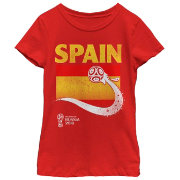 Fifth Sun Youth Girls' 2018 FIFA World Cup Spain Flag Ball Red T-Shirt