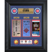 Highland Mint Chicago Cubs World Series Deluxe Gold Coin & Ticket Collection