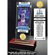 Highland Mint Super Bowl LII Champions Philadelphia Eagles Bronze Coin and Ticket Desktop Acrylic Display