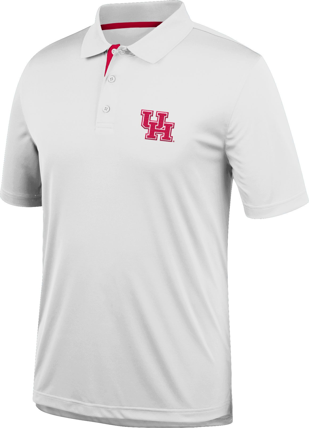 J. America Men's Houston Cougars Spector White Polo by Top Of The World