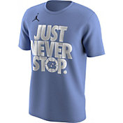 Jordan Men's North Carolina Tar Heels Carolina Blue 'Just Never Stop' Selection T-Shirt