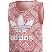 adidas Originals Girls' Mosaic Graphic Cropped Tank Top