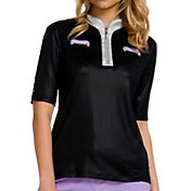 Jamie Sadock Half Sleeve ¼ Zip Golf Top