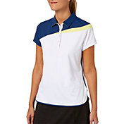 Lady Hagen Women's Watercolor Collection Colorblock Short Sleeve Golf Polo - Plus Size