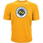 Levelwear Men's Nashville SC Core Logo Gold Heathered T-Shirt