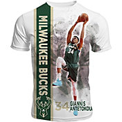 Levelwear Men's Milwaukee Bucks Giannis Antetokounmpo Breakaway White T-Shirt