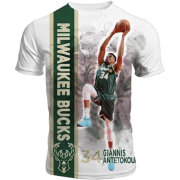 Levelwear Men's Milwaukee Bucks Giannis Antetokounmpo Breakaway White T-Shirt