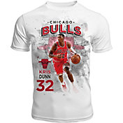 Levelwear Men's Chicago Bulls Kris Dunn Center Court White T-Shirt