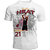 Levelwear Men's Miami Heat Hassan Whiteside Center Court White T-Shirt