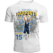 Levelwear Men's Denver Nuggets Nikola Jokic Center Court White T-Shirt