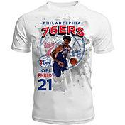Levelwear Men's Philadelphia 76ers Joel Embiid Center Court White T-Shirt