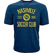 Levelwear Youth Nashville SC Logo Navy Heathered T-Shirt
