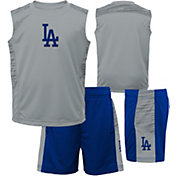 Majestic Boys' Los Angeles Dodgers Home Stand Shorts & Top Set