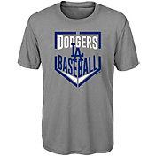 Majestic Boys' Los Angeles Dodgers Dri-Tek Run Scored T-Shirt