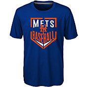 Majestic Boys' New York Mets Dri-Tek Run Scored T-Shirt