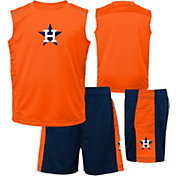 Majestic Boys' Houston Astros Home Stand Shorts & Top Set