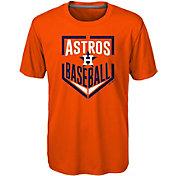 Majestic Boys' Houston Astros Dri-Tek Run Scored T-Shirt