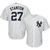 Boys' Replica New York Yankees Giancarlo Stanton #27 Home White Jersey