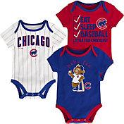 Majestic Infant Chicago Cubs 3-Piece Onesie Set