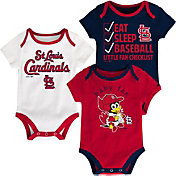 Majestic Infant St. Louis Cardinals 3-Piece Onesie Set
